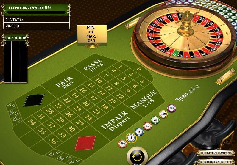 roulette online francese premium