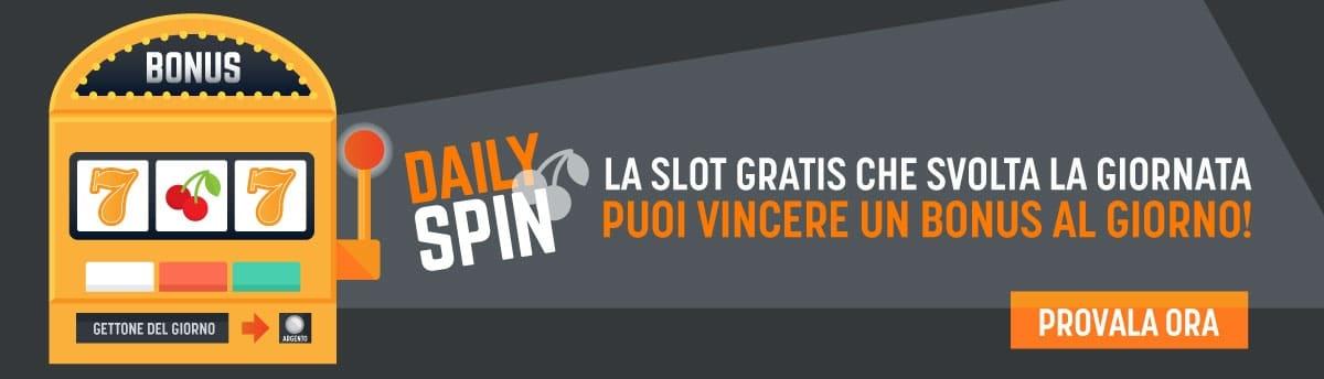 Promozione Daily Spin Slot Snai